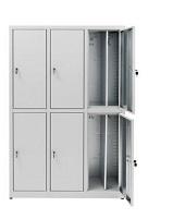 Armarios de casilleros superpuestos ahorran espacio