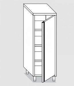 34200.06 Armadio verticale past cm 60x60x160h porta a battente - 3 ripiani interni regolabili
