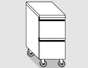 45000.04 Cassettiera ruote 2c gn1/1 h20 agi cm 40x60x84h