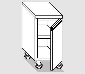 46700.06 Tavolo armadio agi 1 p/battente ruote cm 60x70x84h