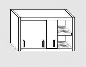 62002.08 Pensile porte scorrevoli 1 ripiano sgocciolatoio cm 80x40x60h