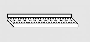 63801.10 Ripiano a parete forato cm 100x28x4h
