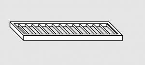 63802.10 Ripiano a parete grigliato cm 100x28x4h
