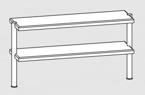 64110.10 Ripiano di appoggio tavoli 2 ripiani 2 gambe cm 100x35x70h