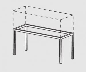 66000.19 Supporto pensile da tavolo cm 190x40x60h
