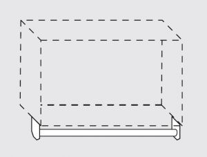 66020.14 Portamestoli per pensili senza ganci da cm 140x1.6