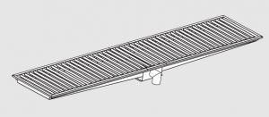 85020.38 Piletta sifonata a pavimento da cm 380x30x12h con filtro e scarico verticale frontale