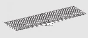 85021.26 Piletta sifonata a pavimento da cm 260x30x12h con filtro e scarico orizzontale frontale