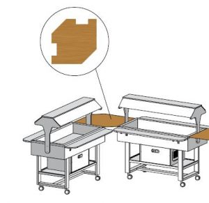 ANUNW Mensola legno angolare Wengé 88x88