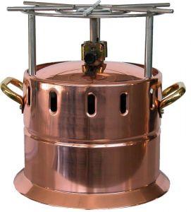 AV4561 Fornello flambé a gas in rame con griglia inox