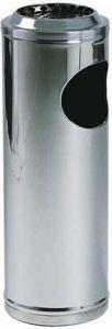 TAV 4650 Stainless steel waste bin with ashtray Ø20x60h