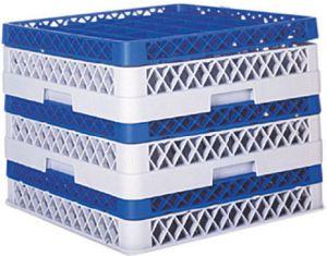 BA Cestello per lavastoviglie grigio 50x50x9h vassoi aperto su un lato