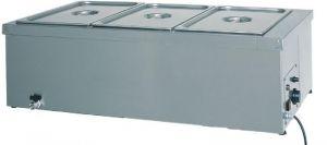 BM1780 Tavola calda banco bagnomaria inox 1x1/1GN rubinetto 49x60x32h