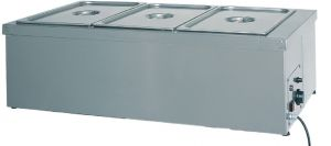 BMS1783 Mesa caliente de acero inoxidable resistencia en seco 2x1/1GN 78x60x32h