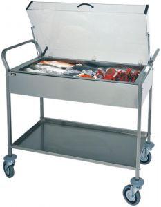 CA1165 Carrello refrigerato piastre eutettiche