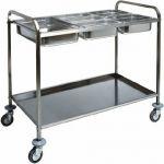 TCA 1386 Carrello inox portabacinelle Gastronorm 77x62x97h