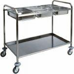 TCA 1387 Carrello inox portabacinelle Gastronorm 110x62x97h