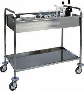 CA 1388 Carrito de acero inoxidable con 1 baño para deshacerse h150