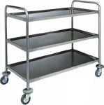 TCA 1415 Carrello di servizio acciaio inox 3 piani portata 100 kg 100x70x104h