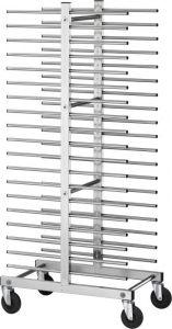 CA1480D Carrello inox portateglie rastrelliera pasticceria 40 teglie