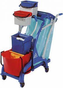 TCA 1613 Carrello pulizia professionale accessoriato 107x56x111h