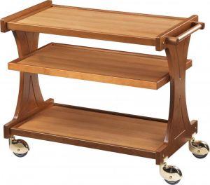CL2151 Carrello servizio legno noce chiaro 3 piani 106x55x85h