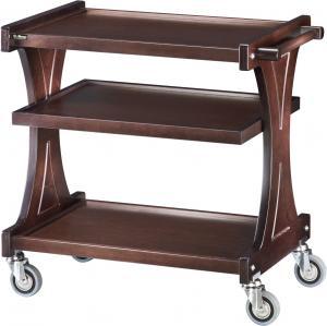 CL2151W Carrello servizio legno Wengé 3 piani Spalliere monocorpo 106x55x85h