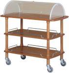TCLC 2013 Carrello servizio in legno 3 piani cupola plx 110x55x114h