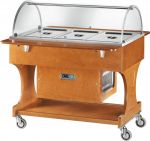 TCLR 2788 Carrello in legno refrigerato (+2°+10°C) 3x1/1GN Cupola plx