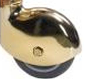 CO Kit 4 Ruote cuffia ottonata solo come accessorio carrelli