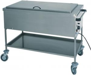 CS1753 Calentador térmico de botellas de acero inoxidable al baño maría con tapa 84x65x85h