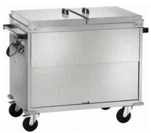 CT1765 Carro termico baño maría acero inox AISI 304 cubiertas 2x1/1GN