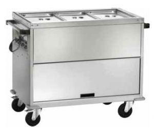 CT1771TD Carro gabinete termico baño maría temperatura diferenciada 3x1/1GN