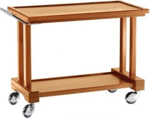 LP 1000 Carrito de servicio de madera 3 pisos 115x55x82h
