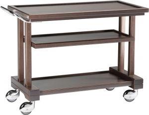 LP 1050W Carrito de servicio de madera 3 pisos 115x55x82h