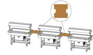 MLUN Mensola legno quadrata 68x70
