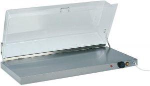 PCC4710 Placa caliente acero inox con cupula rectangular de plexiglas 90x45x20h
