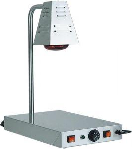 PCI4718 Piano caldo in acciaio inox con lampada raggi infrarossi 58x33x68h