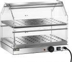 TVBR 4752 Vetrinetta riscaldata acciaio inox 2 piani 50x35x40h