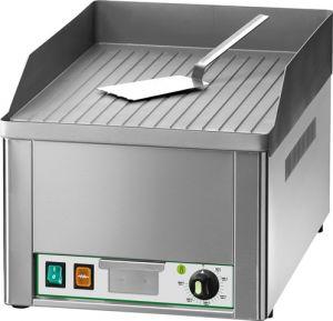 Plancha eléctrica monofásica de sobremesa FRY1R 3000W con encimera de acero acanalado simple