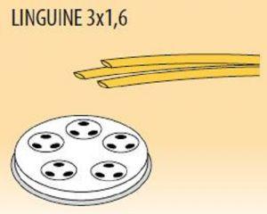 MPFTL3X16-15 Trafila LINGUINE 3x1,6 per macchina per pasta fresca