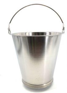 SE-G12B Secchio in acciaio inox graduato 12  litri con base