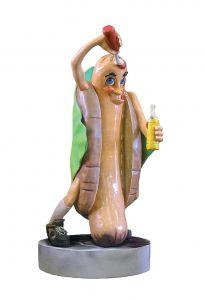 SR009 Hot dog - Hot dog publicitario 3D para gastronomía altura 185 cm