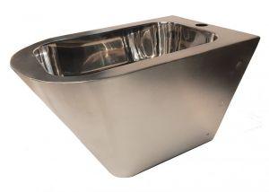 "LX3518 Bidet Professionale sospeso ""GQ"" finitura lucida -  in acciaio inox Aisi 304"