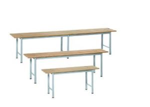 IN-P.5.V Bancs en bois peint - dim. 200x35x45 H