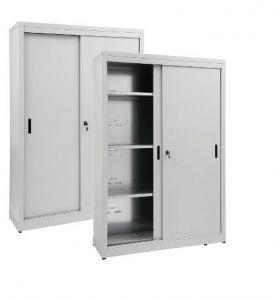 IN-Z.690.20.60 Armoire de rangement à portes coulissantes en zinc plastifié 200x60x180 H