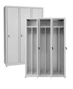 IN-Z.694.00 Dressing 3 portes en zinc plastifié - Dim. 120x40x180 H