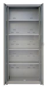 IN-Z.694.09 Armoire de rangement en plastique laminé avec 2 portes, 100x40x180 H