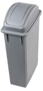 T102210 Contenedor de residuos rectangular con tapa basculante Polipropileno Gris 90 litros