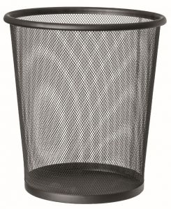 T150531 Papelera perforada metalica negra 13 litros (múltiplos 20 pcs)
